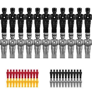 TUNIRO Kickerfiguren für Vollstangen, schwarz und silbergrau