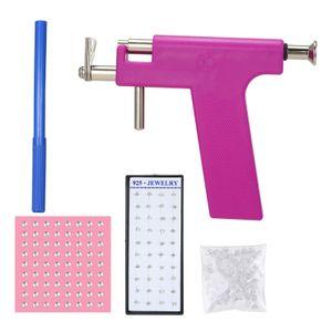 Ohrpiercing-Pistolen-Set Sicherheit Ohrnasen-Nabel-Piercing-Pistolen-Set mit 98-teiligen Ohrstecker-Ohrsteckern
