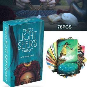 78 cards Tarot Karten Light Seer's Tarot Deck Brettspiel Party Familienspiele Lernspielzeug Spielzeug Gesellschaftsspiel mit Freunden für Party