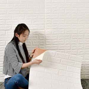 MAEREX 20 Stück 3D Tapete Wandpaneele,77x 70cm Wandpaneele Ziegel Selbstklebend Verdicken Wandpapier Ziegelstein Wandtattoo PVC