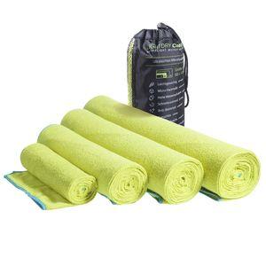 LightDRY Mikrofaser Handtuch Reisehandtuch für Sport und Trekking, Extra saugfähig & antibakteriell - Grün - 60x120cm