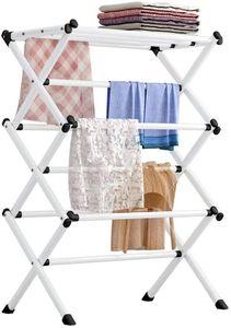 Faltbar Handtuchhalter Handtuchständer Kleiderständer Turmwäscheständer Wäscheständer Trockenregal mit 3 Ebenen 63 * 39 * 98cm