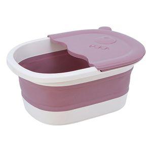 Klappbares Fußbecken Mit Kieselmassage Füße Soaker Massage Tubfoot Care Pink Farbe Rosa
