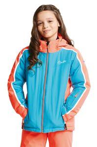 dare2b Kinder Ski Jacke Skijacke BEGUILE JACKET aqua blue / fiery coral, Größe:104