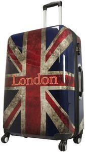 Union Jack -  Koffer Reisekoffer Trolley Bordcase Handgepäck 4 Rollen , Grösse:XL