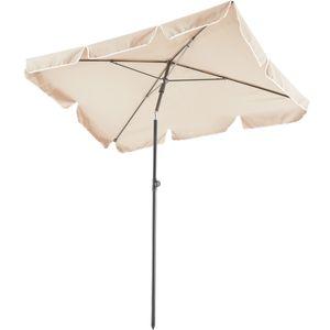 tectake Sonnenschirm 200x125cm - beige