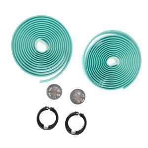 1 Paar Lenkerbänder mit Endkappen für Rennrad Farbe Grün