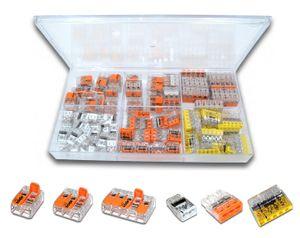 WAGO Sortimentsbox mit 108 Stück Verbindungsklemmen   Serie 221, 2273 (Hebelklemme, Steckklemme)   Box Set Verbindungsklemme