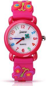 Kinder Uhr, Armbanduhr für Kinder Jungen und Mädchen, 30M wasserdichte Analog Quarzuhr, 3D Cute Cartoon Uhr, Digitale Kinderuhr, Teaching Handgelenk Uhren mit Silikon Armband, Kids Watch Rosa