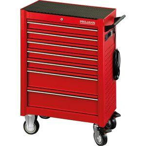 PROJAHN Werkstattwagen UNIVERSE, Rot, bestückt 320tlg, 7 Schubladen, PR6501-141