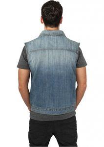 Urban Classics - Denim Vest, TB514 lightblue,  blaue Jeans Weste Größe 3XL