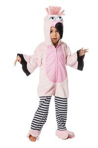 Kinder Kostüm Flamingo Overall mit Kapuze Karneval Fasching Gr.152