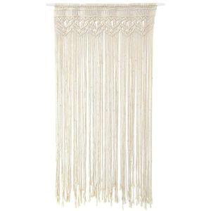 Makramee Wandbehang, handgewebte Makramee Tür Vorhang böhmische Tapisserie, für Raumteiler Fenstertür Vorhänge Hochzeit Hintergrund Wohnkultur (95x 180cm)