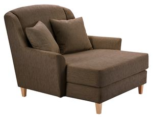 Max Winzer Judith Big-Sessel inkl. 1x Zierkissen 55x55cm - Farbe: schoko - Maße: 136 cm x 142 cm x 107 cm; 2891-767-1643792-F01