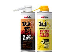 innobike Fluid Bundle 105 High Tech KETTENFLUID 300ml + 106 KETTENFLUID Plus 300ml + Pinselaufsatz