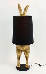 Stehlampe HIDING RABBIT gold/schwarz