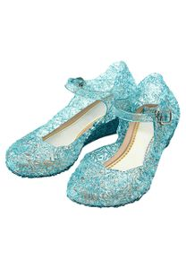 Blaue Prinzessin Schuhe Frozen Eiskönigin Elsa, Cinderella, Aschenputtel, Anna Schnee-Königin Schuhe für Kinder, Blau, EU Gr. 30 - CN32