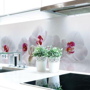 Küchenrückwand Orchidee Premium Hart-PVC 0,4 mm selbstklebend - Direkt auf die Fliesen, Größe:220 x 60 cm
