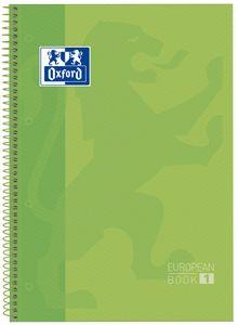 Oxford Collegeblock European Book 1 DIN A4+ kariert grün 80 Blatt