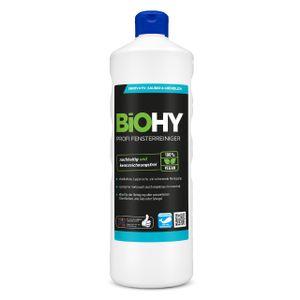 BiOHY Profi Fensterreiniger (1l Flasche)   Glasreiniger Konzentrat, ideal für alle FENSTERSAUGER   Streifenfreie Reinigung von Glas-, Fenster- & Spiegelflächen