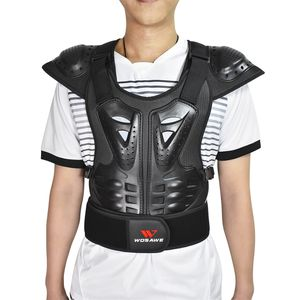 Motorrad Motocross Körperschutzweste Jacke Rücken Brust Schulterpanzer L L. Schwarz Weste