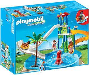 PLAYMOBIL Summer Fun 6669 Aquapark mit Rutschentower Schwimmbad Bad