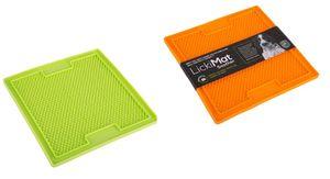 LickiMat Soother - small 20 x 20 cm orange oder grün