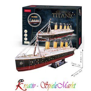 Cubic Fun - 3D Puzzle Titanic mit LED Beleuchtung
