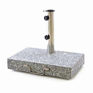 VCM Sonnenschirmständer 25 kg Granit grau halb eckig 45 x 28 cm Balkonständer
