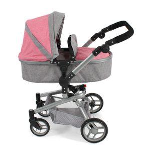 "Bayer Chic 2000 Kombi-Puppenwagen ""YOLO"" in melange pink"