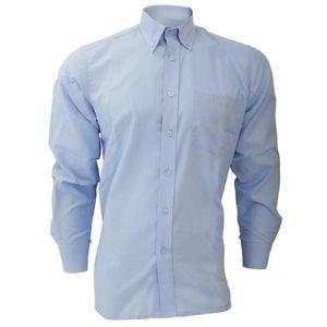 Dickies Oxford Herren Hemd, Langarm BC296 (Kragenweite 47 cm) (Hellblau)