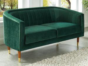 2-Sitzer-Sofa Samt TURPI - Tannengrün