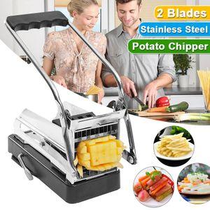 DE Pommesschneider Kartoffelschneider Edelstahl Pommes Frites Küche Schneider