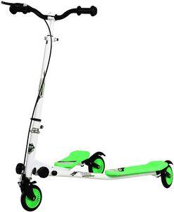 Kinder Scooter Roller Cityroller 3-Räder Y-Wiggle höhenverstellbarer Fun-Scooter Weiß/Grün
