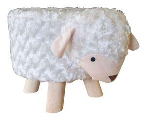 Kinderhocker Schaf Tiermotiv Sitzhocker Polsterhocker Kinderstuhl Tierhocker