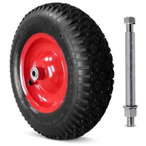 Schubkarrenrad Ersatzrad Gartenkarre 4.80/4.00-8 Ø 390mm 200 kg Schubkarrenreifen Achse Felge, Reifentyp:luftbereift