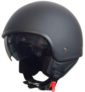 Jethelm 071 Motorradhelm Helm Größe M Chopperhelm schwarz matt Sturzhelm Rollerhelm