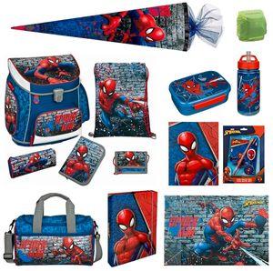 Jungen Schulranzen Set 18tlg. Marvel Spiderman Scooli Campus Fit mit Sporttasche Schultüte 85cm Schreibtischauflage Schulanfang Grundschule