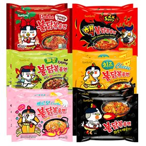 Samyang BULDAK Ramen 12er MIX   Kennenlernbox   Koreanische Hot Chicken Ramen 12er Mix zum Probieren