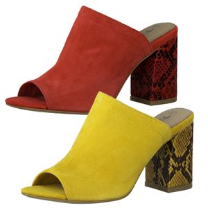 Tamaris 1-27288-24 Damen Schuhe Pantoletten Clogs Blockabsatz, Größe:39 EU, Farbe:Gelb