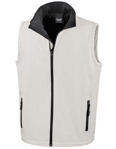 Herren Soft Shell Bodywarmer / Wasserabweisend, atmungsaktiv - Farbe: White/Black - Größe: S