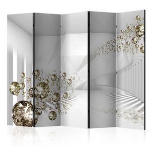 Neuheit! Dekorativer Paravent Raumteiler Trennwand Foto-Paravent Spanische Wand XXL 3D Abstrakt Diamant 225x172 cm a-A-0188-z-c