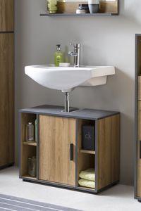 Wilmes - Bad Adria - Waschbecken Unterschrank 65 cm breit mit 1 Tür und 4 Fächern
