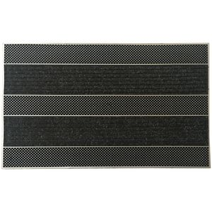 Fußmatte Stepway 45 x 70 cm Schmutzfangmatte mit Gumminoppen und Fußabstreifer aus Baumwolle Fußabtreter aus Gummi - langlebig und robust