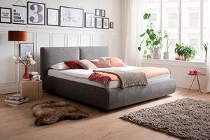Meise Möbel Polsterbett Atesio 180x200 cm inkl. Bettkasten Farbe wählbar, Stoffe:Stoff anthrazit