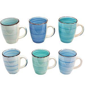 6 x Kaffee Tassen blau