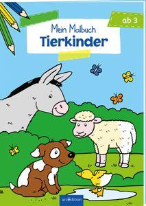 Ars Edition Malbuch ab 3 - Tierkinder
