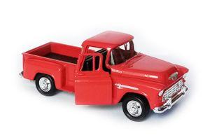 Chevrolet Stepside 3100 Pick-Up 1955 Modellauto Metall Modell Auto Geschenk Kinder Sammler Sammlerstück 30 (Rot)