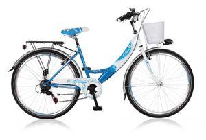 20 ZOLL Kinder Mädchen Fahrrad Kinderfahrrad Cityfahrrad Citybike Mädchenfahrrad City Bike Cityrad Rad Shimano 6 Gang Diva Blau