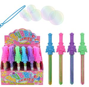 1 x Seifenblasenschwert mini, Seifenblasenstab, 20cm, 1 aus 4 Farben